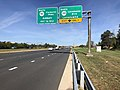 2019-09-20 10 06 53 View west along Virginia State Route 7 (Harry Byrd Highway) at the exit for Virginia State Route 2400 NORTH (Lansdowne Boulevard, Lansdowne) on the edge of Lansdowne and Ashburn in Loudoun County, Virginia.jpg