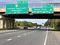 2019-09-23 10 09 16 View west along Maryland State Route 32 (Patuxent Freeway) at Exit 15 (Shaker Drive, Eden Brook Drive) in Columbia, Howard County, Maryland.jpg