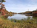 2020-10-18 10 34 19 View of High Point, New Jersey from the shore of Lake Marcia within High Point State Park in Montague Township, Sussex County, New Jersey.jpg