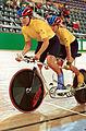 211000 - Cycling track Tania Modra Sarnya Parker action - 3b - 2000 Sydney race photo.jpg
