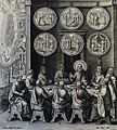 265 Life of Christ Phillip Medhurst Collection 4550 Christ appearing to the eleven Mark 16.14-20 Pass Rom.jpg