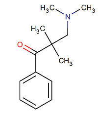 Kemia strukturo de Beta-amina ketono-