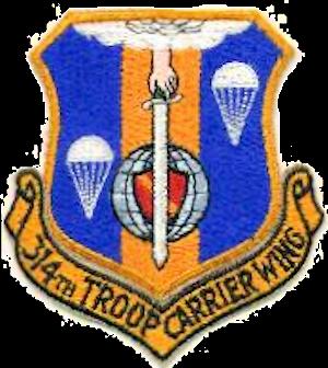 314th Troop Carrier Wing Emblem