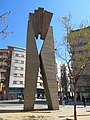 31 Escut de l'Hospitalet, de Josep M. Subirachs, c. Santa Eulàlia (l'Hospitalet de Llobregat).jpg