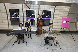 Music Under New York - Musicians playing at 34th Street–Hudson Yards.