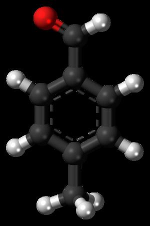 4-Methylbenzaldehyde - Image: 4 Methylbenzaldehyde 3D balls