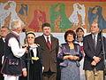42.V Dni Wina Jaslo-uroczyste otwarcie, burmistrz Jasła Kurowska, konsul USA.jpg