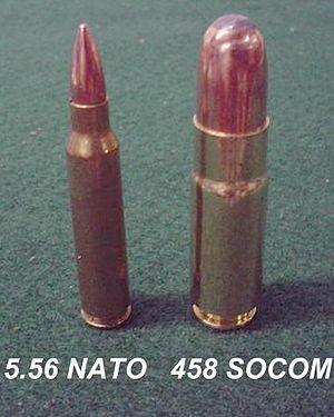 .458 SOCOM - 55gr 5.56 NATO vs 500gr .458 SOCOM