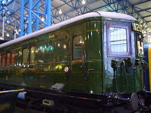 SR class 3Sub - A motor carriage from unit E43 (later 1243) is preserved.