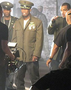 "La G-Unit durante le riprese del video ""Rider Pt 2"""