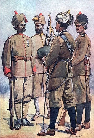 56th Punjabi Rifles (Frontier Force) - Image: 51st (3FF), 56th (8FF), 59th (1FF)