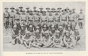 Fort Oglethorpe (Fort Oglethorpe, Georgia) - Members of the UNC Class of 1917 at Fort Oglethorpe, March 1915