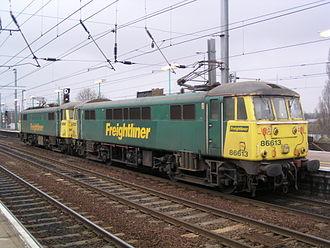 British Rail Class 86 - 86613 and 86610 at Ipswich.