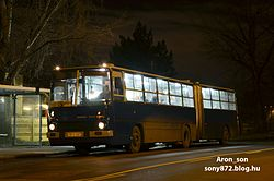 Ikarus 280-as busz a vonalon