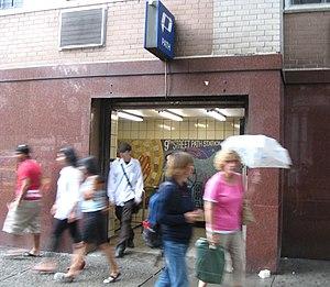 9th Street station (PATH) - Street entrance