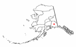 Location of Gulkana, Alaska
