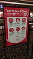 AMC Safe & Clean at concessions sign in AMC Sundial 12 movie theater, St. Petersburg, Florida, Sep 2020.jpg