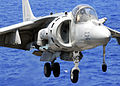 AV-8B Harrier on the flight deck of USS Peleliu.jpg