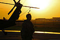 A U.S. Army UH-60 Black Hawk helicopter crew member assigned to the Puerto Rico Army National Guard prepares to conduct night flight training at the aviation support facility in Isla Grande, Puerto Rico, Sept 140902-Z-KD550-460.jpg