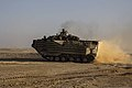 A U.S. Marine Corps assault amphibious vehicle drives away after dropping off Marines with Weapons Platoon, Kilo Company, Battalion Landing Team, 3rd Battalion, 2nd Marine Regiment, 26th Marine Expeditionary 130423-M-LP523-002.jpg
