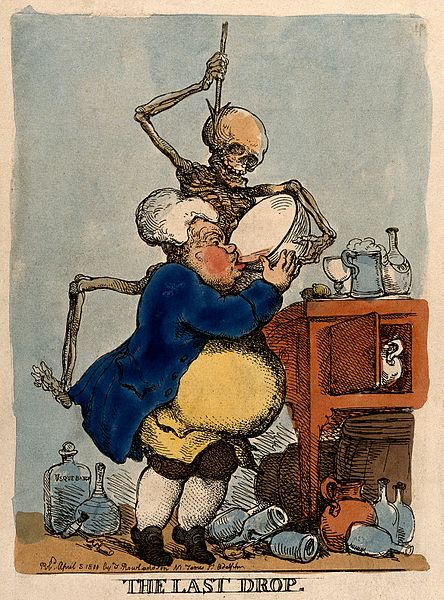 File:A man drinking himself to death; represented by a skeletal d Wellcome V0011014.jpg