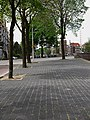 A photo of trees on the wide walking path along the quay of Prins Hendrikkade in Amsterdam; high resolution image by FotoDutch, June 2013.jpg