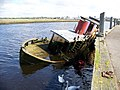 A sunken ship near the Scottish Maritime Museum, Irvine - geograph.org.uk - 2089206.jpg