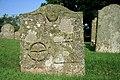 A symbolic stone in Legerwood Churchyard - geograph.org.uk - 902082.jpg