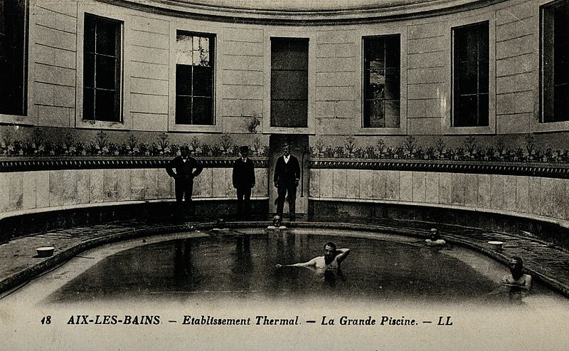 File:A thermal spring swimming pool, Aix-les-Bains Wellcome V0049837.jpg
