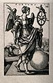 A winged woman holding a palm branch in her right hand and a Wellcome V0047967.jpg