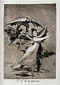 A young ballet dancer trying to escape winged figures with m Wellcome V0025846.jpg