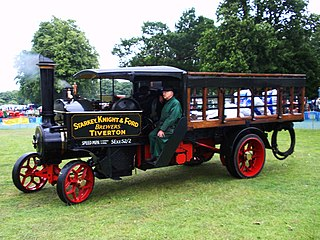 Steam wagon steam-powered road vehicle for carrying freight