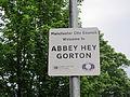 Abbey Hey sign, Gorton.JPG