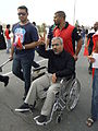 Abduljalil al-Singace taking part in March of royal court in Riffa.JPG