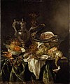 Abraham van Beyeren - Still Life with a silver Wine-jar and a reflected Portrait of the Artist ASH ASHM WA1940 2 10.jpg