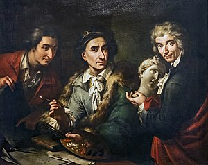Francesco Maggiotto - Self-portrait with two students 1792 Gallerie dell'Accademia
