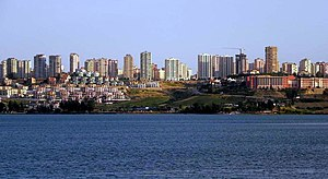 Adana City and Seyhan Lake