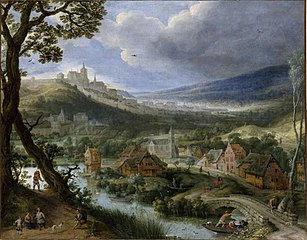 View of of a scene near Brussels