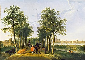 The Avenue at Middelharnis - Aelbert Cuyp, The Avenue at Meerdervoort, 1650–1652, Wallace Collection