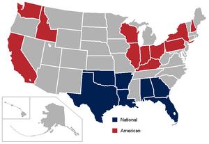 AF2 - Image: Af 2 USA states