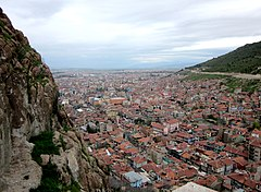 Afyon, Turkey. Old town, seen from citadel hill. - panoramio.jpg