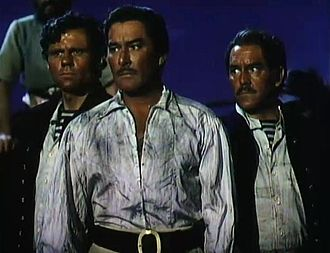 Against All Flags - L-R: John Alderson, Errol Flynn and Phil Tully
