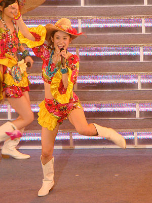 Ai Takahashi - Ai Takahashi performing at Morning Musume's Platinum 9 Disc concert tour on May 2009.