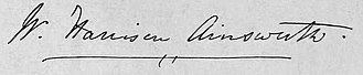 William Harrison Ainsworth - Image: Ainsworth Signature