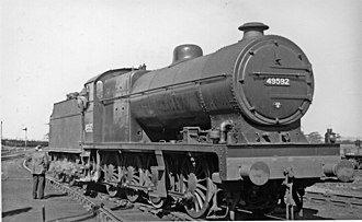 LMS Class 7F 0-8-0 - 49592 at Aintree, June 1948.