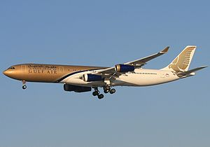 Gulf Air - A now retired Gulf Air Airbus A340-300 in 2007