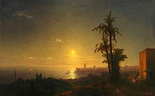 Night at the Rodos island