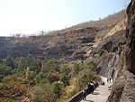 File:Ajanta Caves on winter morning.jpg