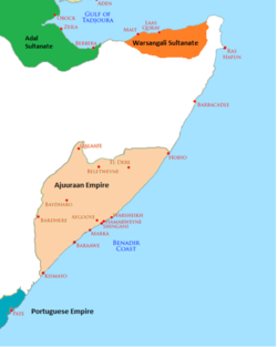 The Ajuuraan Sultanate in the 15th century