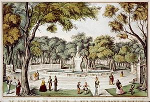 Alameda Central - The Alameda Central in 1848